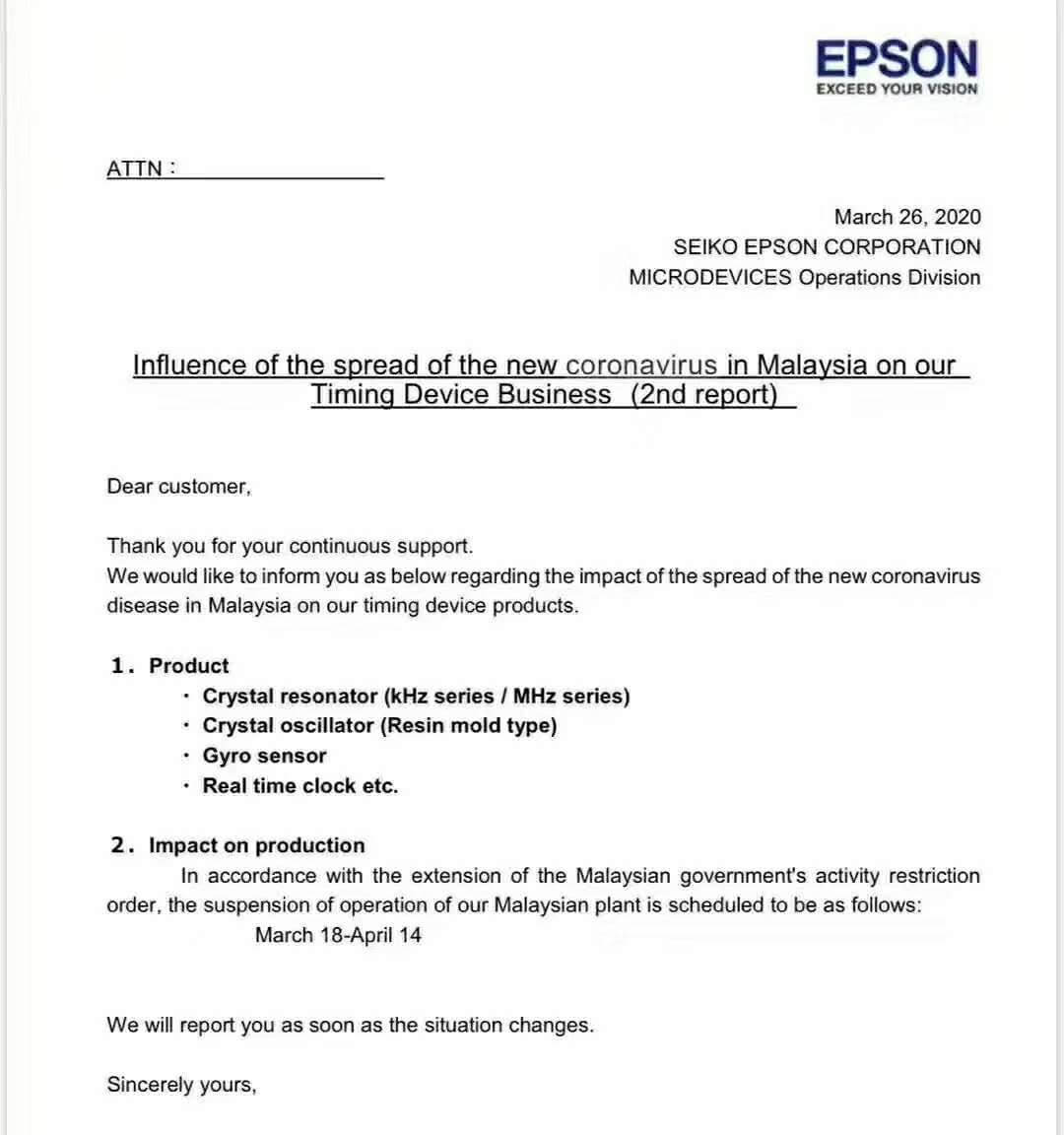 Epson closes timing device factory in Malaysia-SemiMedia